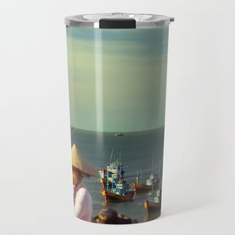 fishing village Travel Mug
