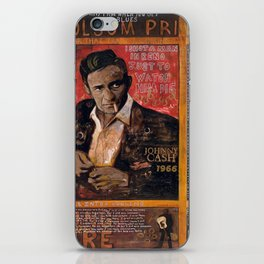 Red Johnny Cash iPhone Skin
