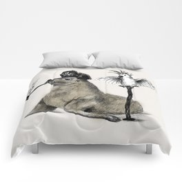 Pirate // seal parrot Comforters