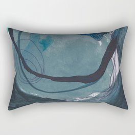 Dark Night: an explosion of color and abstract marks Rectangular Pillow