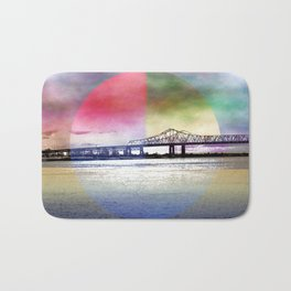Crescent City Connection Bridge Bath Mat