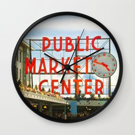 Seattle Pike Place Market Wall Clock