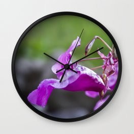 Indian Balsam Bokeh on the banks of the River Tay in Scotland Wall Clock
