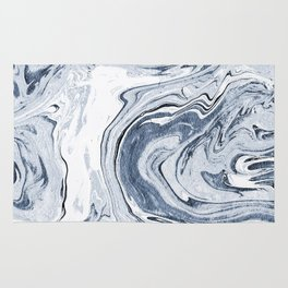 Kiyomi - spilled ink japanese monoprint marble paper marbling art print cell phone case with marble Rug