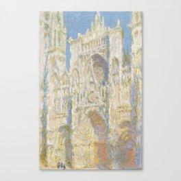 Claude Monet - Rouen Cathedral, West Façade, Sunlight Canvas Print