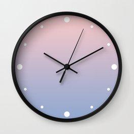 Rose Diamond / Quietude Gradient Colors Wall Clock