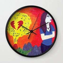 Heartbreak's Ashes Wall Clock