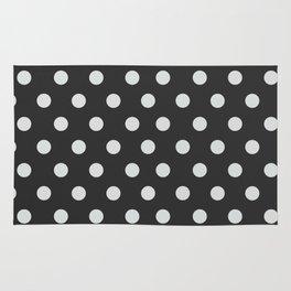 Dark Slate Grey Thalertupfen White Pōlka Large Round Dots Pattern Rug