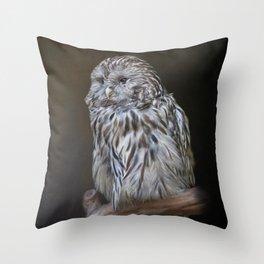 Lovely cute owl Throw Pillow
