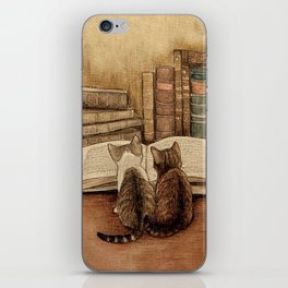 Kittens Reading A Book iPhone Skin