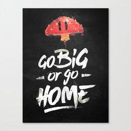 Go Big or Go Home Mario Inspired Smash Art Canvas Print