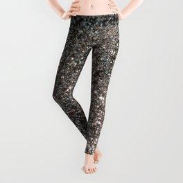 Silver Glitter #1 #decor #art #society6 Leggings