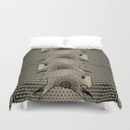 Buffalo Running (Gray) Duvet Cover
