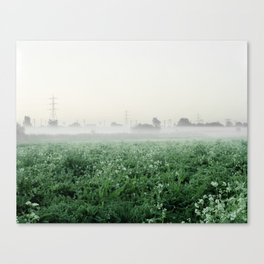 Walthamstow Marshes Misty Canvas Print