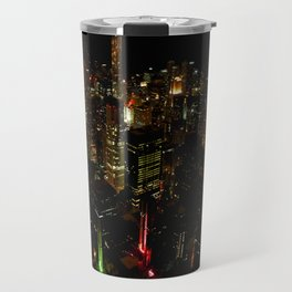 Night Skyline from Skydeck #1 (Chicago Architecture Collection) Travel Mug