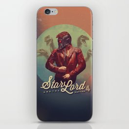Star Lord and the Raptor 4 iPhone Skin