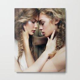 Roxy & Claire Metal Print