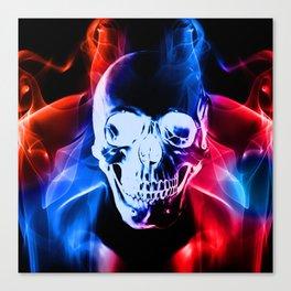 Smokey Skull Canvas Print