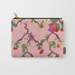 Cherries and Vine Carry-All Pouch