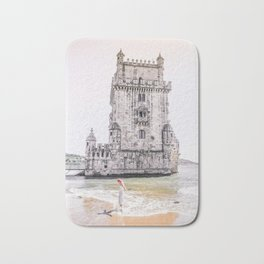 Belem Tower girl Bath Mat