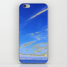 Mediterranean sky with mountains iPhone Skin