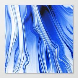 Streaming Blues Canvas Print