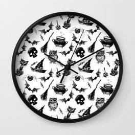 Halloween pattern design Wall Clock