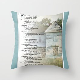 Old Homes (Poem) Throw Pillow