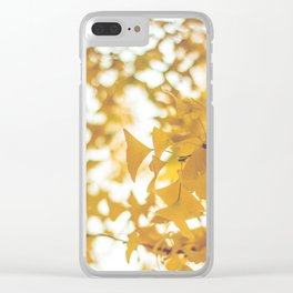 Looking up in yellow Clear iPhone Case