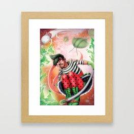 Punk Magical Girl Framed Art Print