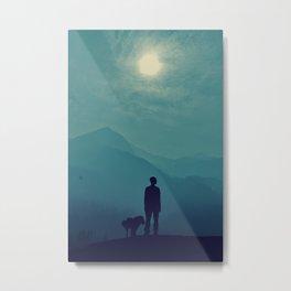 A Boy with a Dog! Metal Print