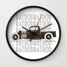 Rat Rod Hot Rod Vintage Wall Clock