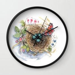 Robin's Nest Wall Clock