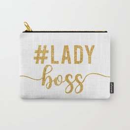 Lady Boss gold glitter Carry-All Pouch