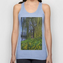 Daffodils and Willow Tree Unisex Tank Top