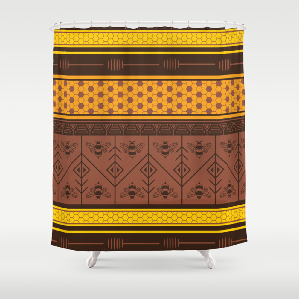 Waxing Poetic Shower Curtain by Goddammitstacey CTN8662952