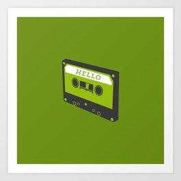 Hello tape green Art Print