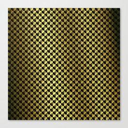 Black and Gold Checkerboard Weimaraner Canvas Print