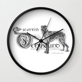 Scottish Deerhound Pure Wall Clock