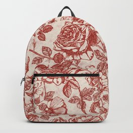 Toile de jouy (Roses) Backpack