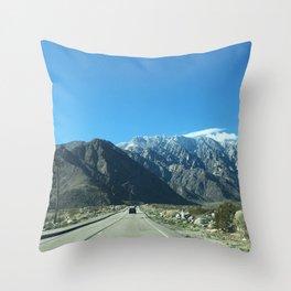 Mountain Snow in Palm Springs California Throw Pillow