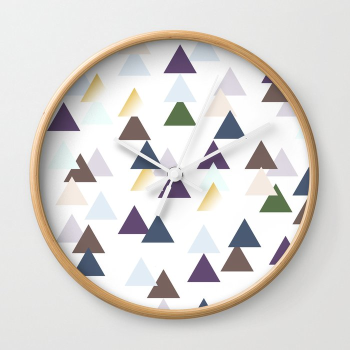 Tribal Triangle Pattern Wall Clock