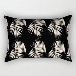Palm Leaves Pattern #13 #Gold Touch #Black #decor #art #society6 Rectangular Pillow