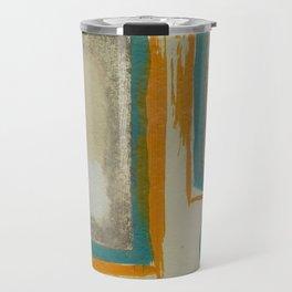 Soft And Bold Rothko Inspired - Modern Art - Teal Blue Orange Beige Travel Mug