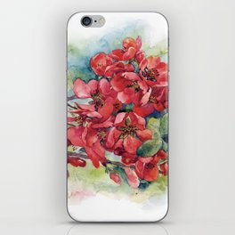 Watercolor Apple quince bloom iPhone Skin