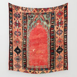 Sivas  Antique Cappadocian Turkish Niche Kilim Print Wall Tapestry