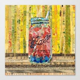 Sangria mason Jar Canvas Print