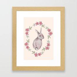 Floral Rabbit Framed Art Print