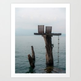 Paradise for two Art Print