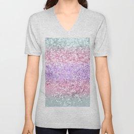 Unicorn Girls Glitter #8 #shiny #pastel #decor #art #society6 Unisex V-Neck